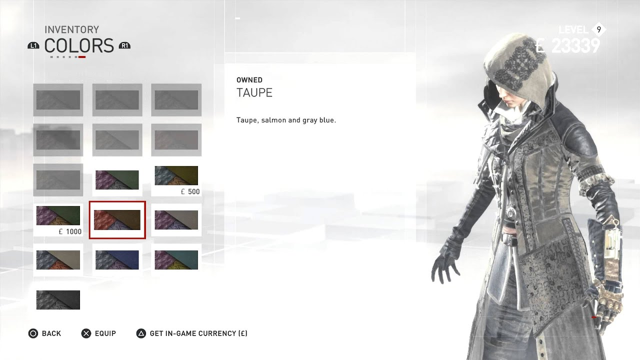 Assassin S Creed Syndicate All Evie Frye Outfits Colors All
