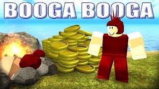 Booga Booga #2 печатаю деньги и торгую, поиски золота и красного камня, сломал бога, сделал шлем