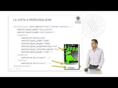 El patrón ViewHolder y su uso en un RecyclerView │ MOOC Android: Intro. programación (39-60) │UPV
