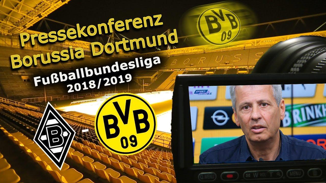 Borussia Mönchengladbach - Borussia Dortmund: Pk mit Lucien Favre und Michael Zorc