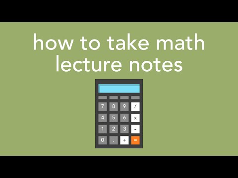 how to take math lecture notes