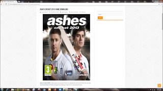 How to Download Ashes Cricket 2013 Full pc game