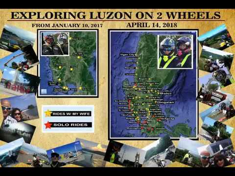 EXPLORING LUZON on 2 WHEELS (from Jan. 10, 2017 and as of April 14, 2018