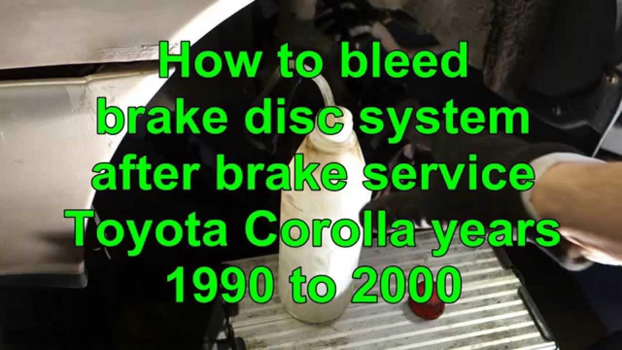 Toyota Corolla Repair Manual: Brake system