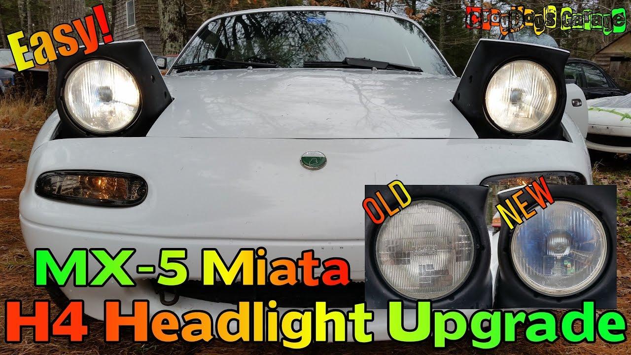 Mx 5 Miata Simple H4 Headlight Upgrade Na