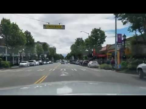 California Avenue Dash Cam Tour West Seattle, Washington June 1, 2017