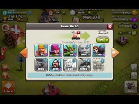 Top 3 Raid Troop Stategys For Town Hall 7 Coc 2014 Youtube