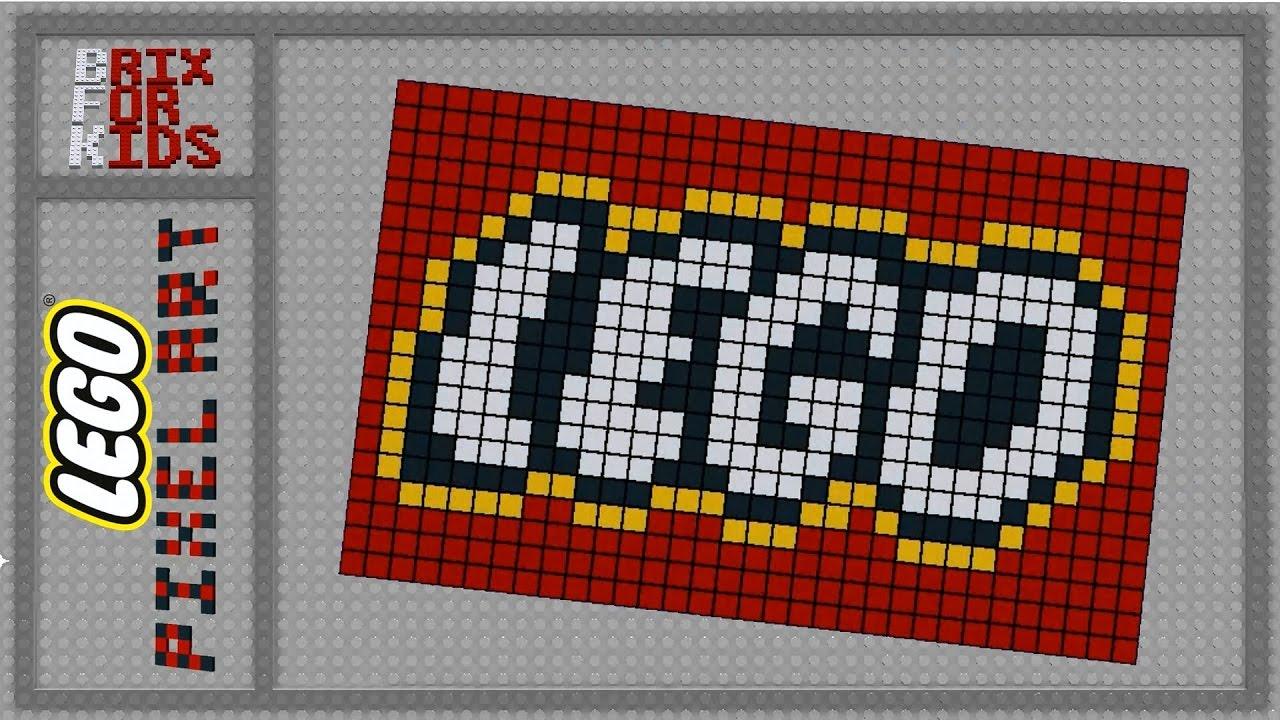 Digital Lego Pixel Art Lego Logo 640 Pcs