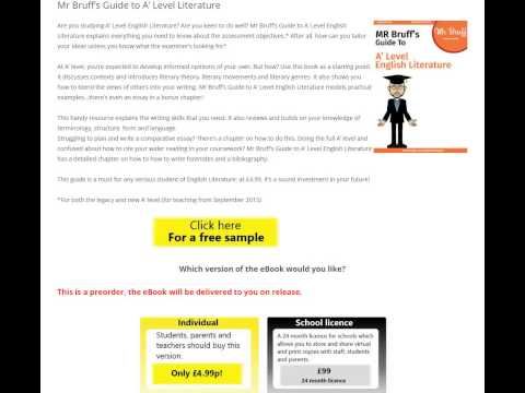 'Mr Bruff's Guide to A' Level English Literature'