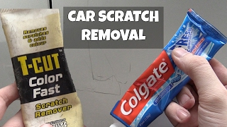 Car scratch removal with Toothpaste!?