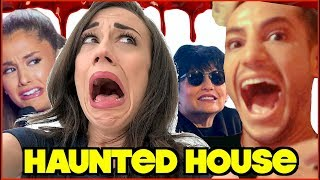 HAUNTED HOUSE WITH THE GRANDE'S!