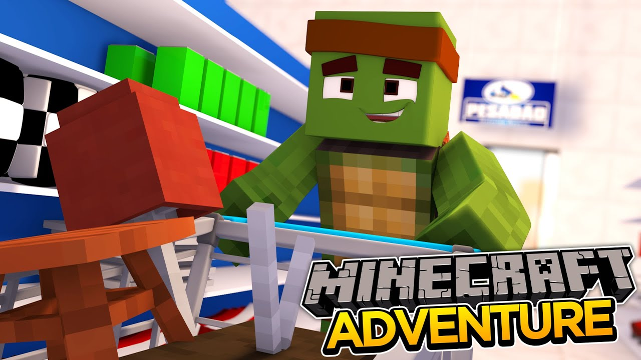 Minecraft Adventure  Shopping For My New Room! Youtube