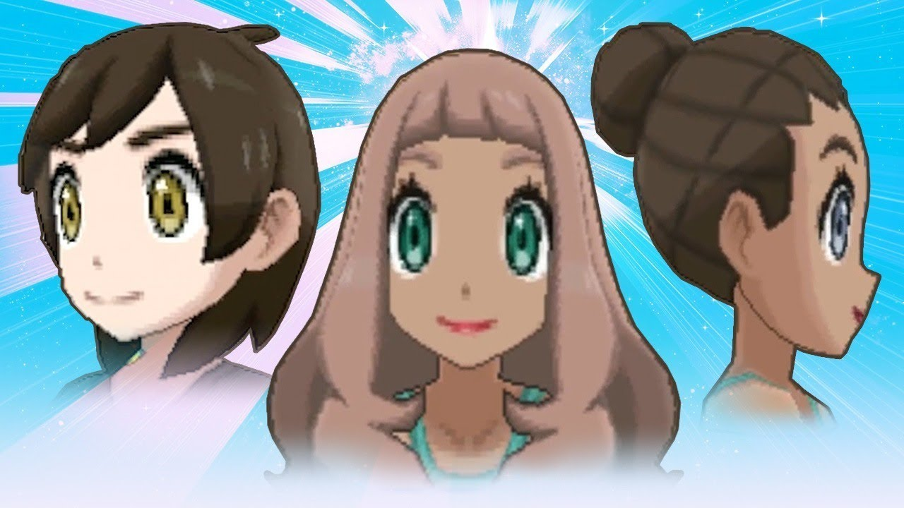 Pokemon Ultra Sun And Ultra Moon Hairstyles And Colors Youtube