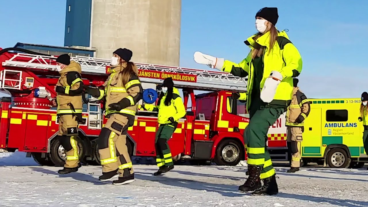 Jerusalema Challenge - Ambulance and Rescue services of Örnsköldsvik, Sweden. Feb 2021