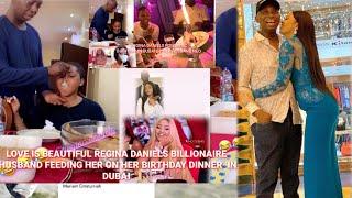 Regina Daniels HUSBAND Ned at Her Birthday IN DUBAI WATCH GINA BIRTHDAY DINNER