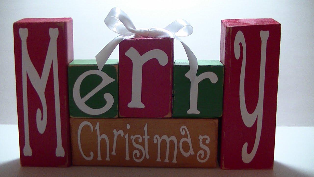 Cricut Christmas Crafts Part - 32: Cricut Explore Holiday Blocks - YouTube