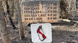 Nov 3rd - Fern Lake Trailhead Field Report From Rocky Mountain National Park
