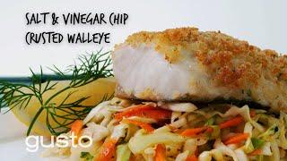 Salt & Vinegar Chip Crusted Walleye | Fish the Dish