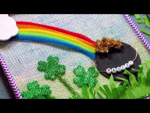 Saint patrick 39 s day wall hanging kids craft youtube for Fomic sheet decoration youtube