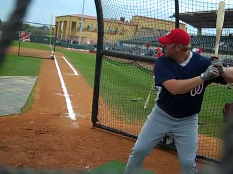 Adam Dunn Batting Practice
