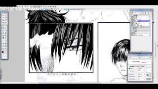 Making of - manga pages