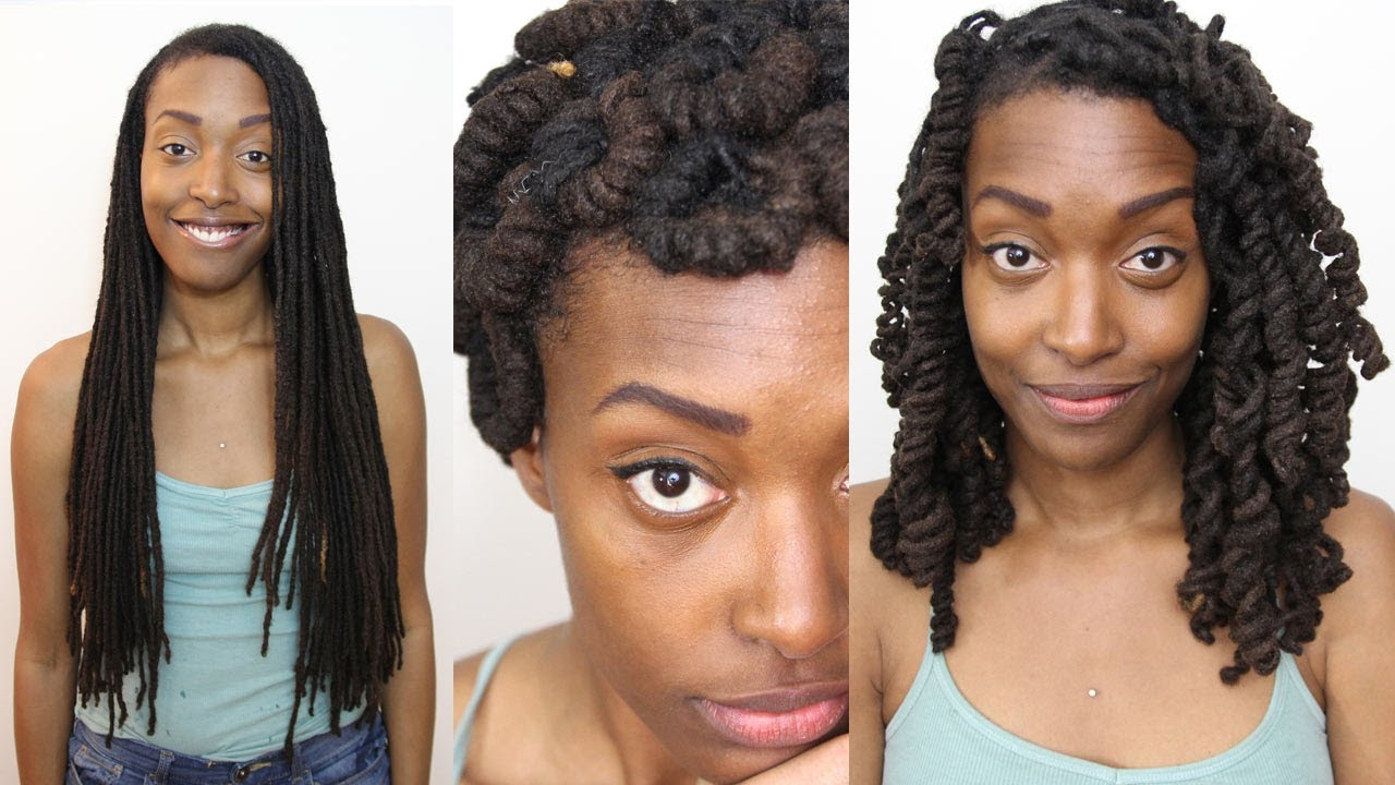 Loc Hairstyle Tutorial Modified Pipe Cleaner Curls Youtube