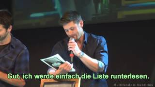 JIBCon 4 - Jensen Ackles und Misha Collins Panel (german sub/deutsch)
