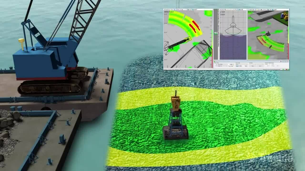 Trimble Marine Construction - Wire Crane on