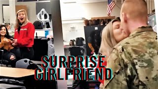 SOLDIERS COMING HOME SURPRISE GIRLFRIEND!