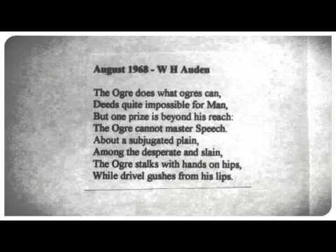 August 1968 - W H Auden