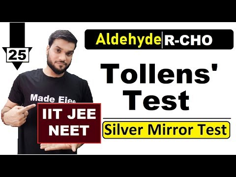 (L-25) Tollens' Test || Oxidation Of Aldehyde || JEE NEET AIIMS || 12th Organic By A. Arora
