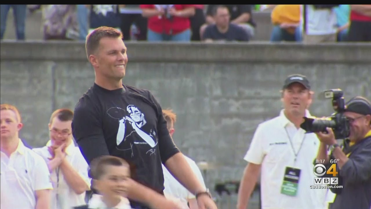 Tom Brady Takes The Field For The Best Buddies Challenge