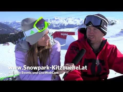 DC Snowpark Kitzbühel - Simone Ober chixngravy.com im Interview mit Park Designer // www.KitzSki.TV