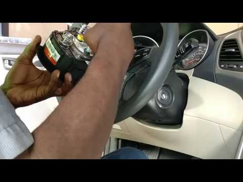 hyundai elantra head lamp switch /clock spring /steering wheel air bag  removal /replacement