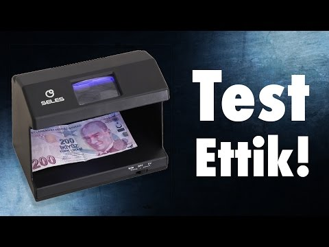 Sahte Para Makinesini Test Ettik