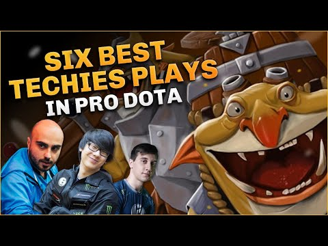 The SIX BEST TECHIES Plays in Pro Dota 2