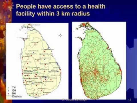 Organization of Health services in Sri Lanka
