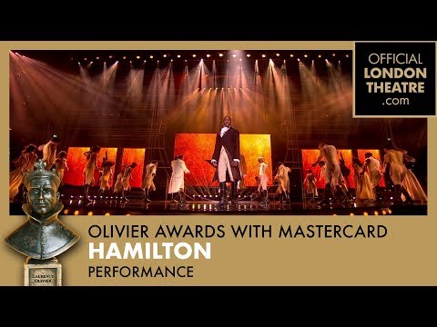 Hamilton performance at the Olivier Awards 2018 with Mastercard