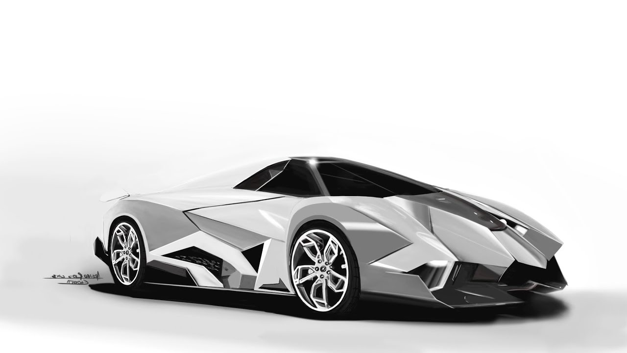 Lamborghini Speed Painting Egoista Supercar Youtube