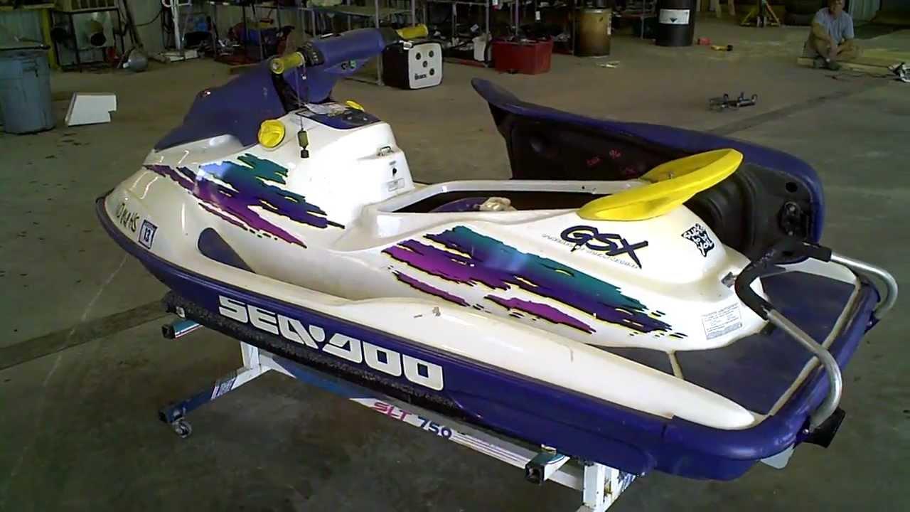 1997 Seadoo Gtx >> 1996 Sea Doo GSX 800 LOT 1061A - YouTube