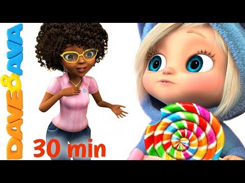 🍭 Ava Ava Yes Mama | Johny Johny Yes Papa | Nursery Rhymes Collection 30 min from Dave and Ava🍭