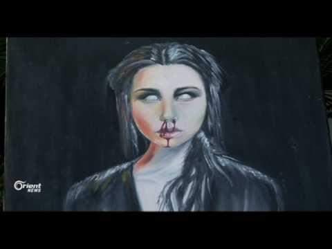 فنانة سورية تتفنن في رسم البورتريه واللوحات الزيتية في طرابلس  - 12:20-2017 / 5 / 24