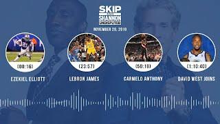 Ezekiel Elliott, LeBron James, Carmelo Anthony, David West | UNDISPUTED Audio Podcast