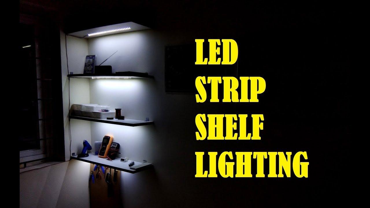 led strip shelf lighting