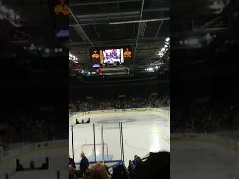 When your Gorillaz jam comes on at the Stockton heat vs San Jose baracudas hockey game 2-17-2018