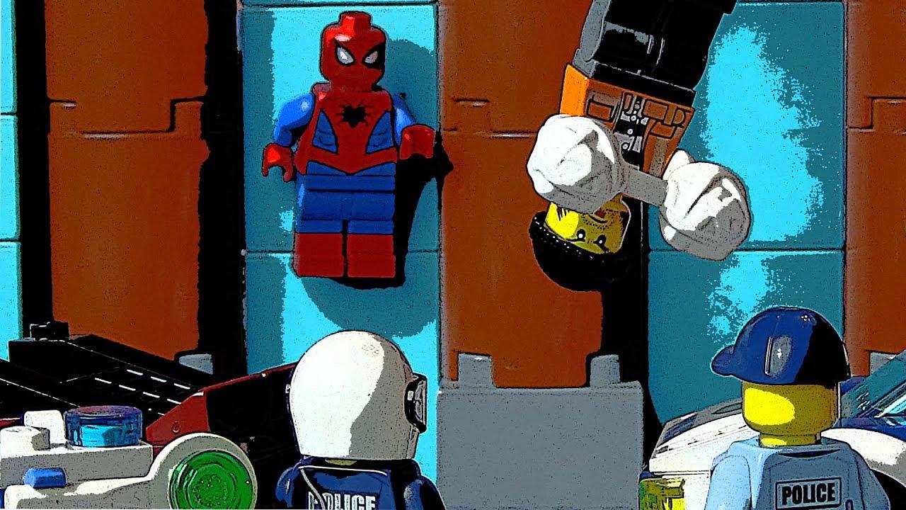 Человек-паук помогает полиции 🔫 👮 погоня на машинках ...