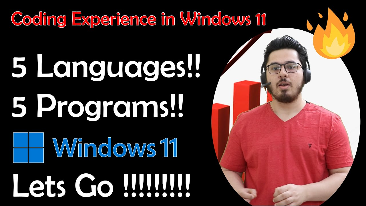 I tried Coding 5 different languages in Windows 11 🔥🔥