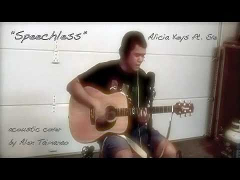 Speechless - Alicia Keys ft. Eve (acoustic cover by Alex Taimanao)