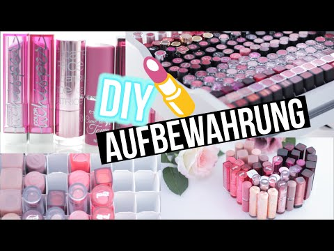 video clip hay diy makeup aufbewahrung lippenstift box. Black Bedroom Furniture Sets. Home Design Ideas