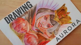 Drawing Aurora - Heartbreak Empress Mobile Legends Bang Bang